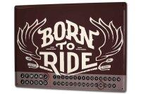 Perpetual Calendar Garage Born to ride Tin Metal Magnetic