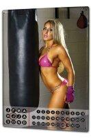 Perpetual Calendar Sexy Girl Boxing sexy Tin Metal Magnetic