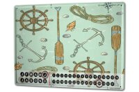 Perpetual Calendar Kitchen Ship Ship accessories Tin...