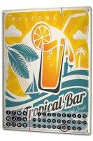 Dauer Wand Kalender Bar Restaurant Tropical Bar Cocktails Metall Magnet