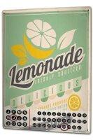 Perpetual Calendar Nostalgic Lemonade Tin Metal Magnetic