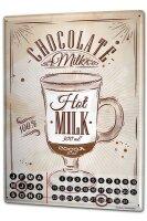 Perpetual Calendar Nostalgic Hot chocolate Tin Metal...