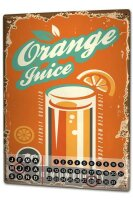 Perpetual Calendar Soda Soft Drink orange juice Tin Metal...