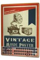 Perpetual Calendar Fun rative Vintage music Tin Metal...