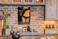 Perpetual Calendar Fun rative Womens lingerie Tin Metal...