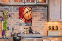 Perpetual Calendar Fun Basketball Tin Metal Magnetic