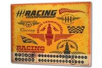 Perpetual Calendar Nostalgic Racing Tin Metal Magnetic