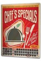 Perpetual Calendar Fun Chef special Tin Metal Magnetic