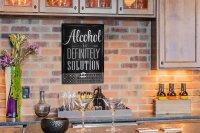 Perpetual Calendar Fun Alcohol solution Tin Metal Magnetic