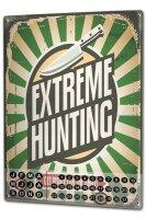 Perpetual Calendar Fun Extreme Hunting Tin Metal Magnetic