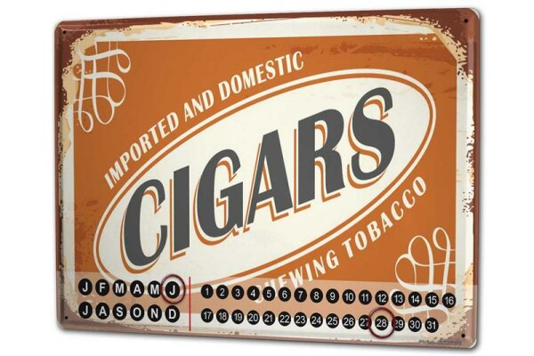 Perpetual Calendar Tobacco Chewing tobacco Tin Metal Magnetic