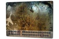 Perpetual Calendar Nostalgic Aircraft instruments Tin...