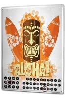 Perpetual Calendar Holiday Travel Agency Hawaii Aloha Tin...
