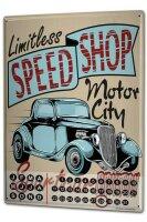 Perpetual Calendar Globetrotter Motor City Tin Metal Magnetic