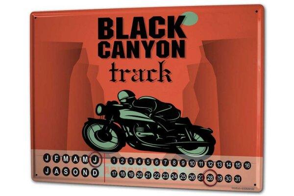 Dauer Wand Kalender Urlaub Reisebüro Black Canyon Track Metall Magnet
