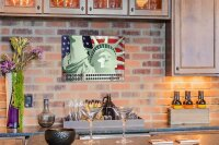 Perpetual Calendar Holiday Travel Agency Statue of liberty Tin Metal Magnetic