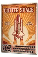 Perpetual Calendar Holiday Travel Agency Outer Space Tin...