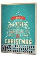 Perpetual Calendar Christmas Retro Merry Christmas Tin...