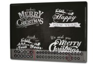 Perpetual Calendar Santa Claus Merry Christmas Tin Metal...