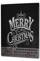 Perpetual Calendar Christmas Merry Christmas Tin Metal...