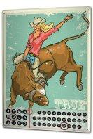 Perpetual Calendar Nostalgic Western Style Real Cowgirl...