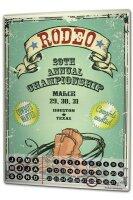 Perpetual Calendar USA Native Rodeo Tin Metal Magnetic