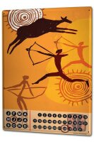 Perpetual Calendar USA Native Warrior Tin Metal Magnetic