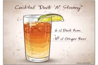 Fridge Magnet Bar Party Cocktail dark n stormy