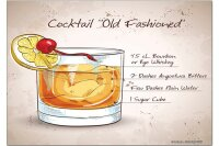 Fridge Magnet Bar Party Old fashioned