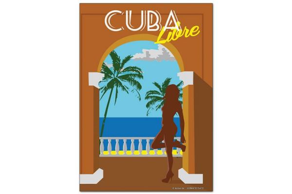 Fridge Magnet Holiday Travel Agency Cuba Libre