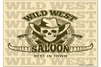 Fridge Magnet Retro Western Wild West Saloon