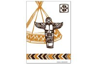 Fridge Magnet USA Native Totem