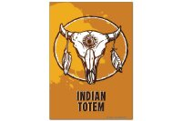 Fridge Magnet Nostalgic Western Style Indian Totem