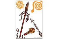 Fridge Magnet Retro Western Spear