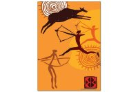 Fridge Magnet USA Native Warrior