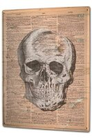 Tin Sign XXL Practice skull