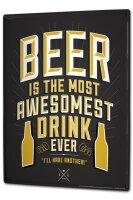Tin Sign XXL Brewery Beer Kitchen Best drink beer bottles