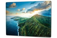 Tin Sign XXL Feng Shui Picture Green mountain landscape