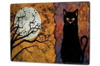 Tin Sign XXL Fantasy Motif Full moon cat