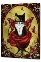 Tin Sign XXL Fun Ravtive Cat Butterfly Key