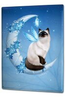 Tin Sign XXL Fantasy Gothic Crescent Cat wing