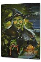 Tin Sign XXL Fun Ravtive Witch Night Fairies