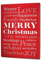 Tin Sign XXL Retro Winter Christmas love family tradition