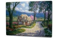 Tin Sign XXL Retro Mountain Landscape House Path