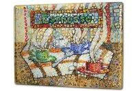 Blechschild XXL Restaurant Küche Espresso Tassen Mosaikbild