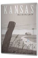 Tin Sign XXL Holiday Travel Agency Kansas Country House...