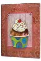 Tin Sign XXL Kitchen Sundae cherry chocolate caramel and...