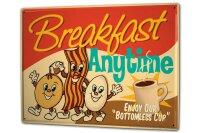 Tin Sign XXL Kitchen Breakfast coffee eggs