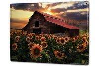 Tin Sign XXL Plants Barn sunflower field
