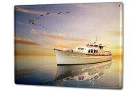 Tin Sign XXL Kitchen Ship Ship water birds